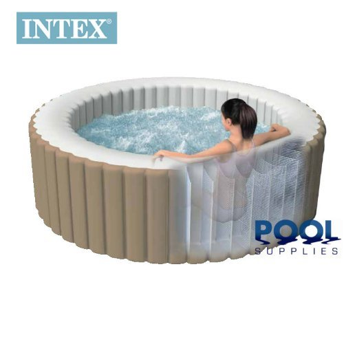 intex pure spa deluxe inflatable 4 person portable spa hot tub. Black Bedroom Furniture Sets. Home Design Ideas