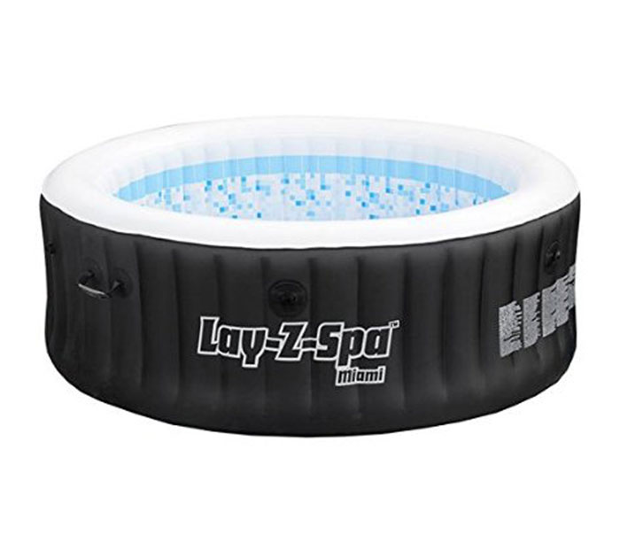 Lay z spa paris inflatable hot tub review new for 2016 for Tub liner installation
