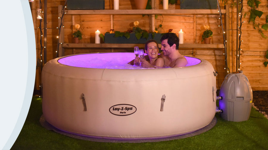 LAY-Z-SPA PARIS  INFLATABLE HOT TUB
