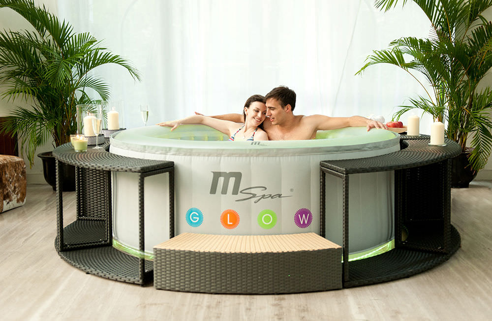 mspa glow round luxury inflatable spa review. Black Bedroom Furniture Sets. Home Design Ideas