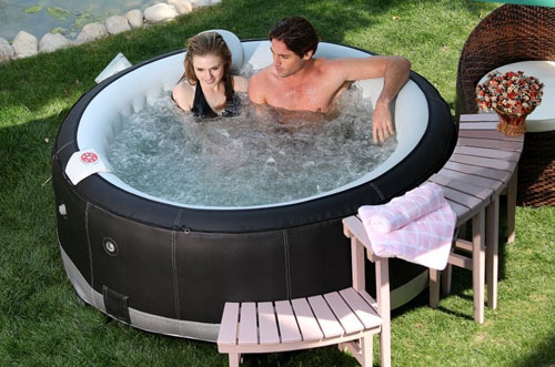 Aqua Jet Spa Regal Deluxe Synthetic Leather Black Inflatable Hot Tub Review