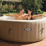 Intex Pure Spa Deluxe Inflatable 4 Person Portable Spa Hot Tub