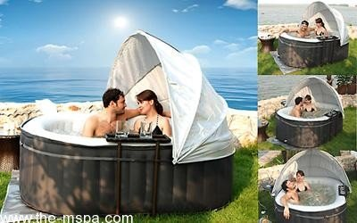 inflatable hot tub canopy. Black Bedroom Furniture Sets. Home Design Ideas