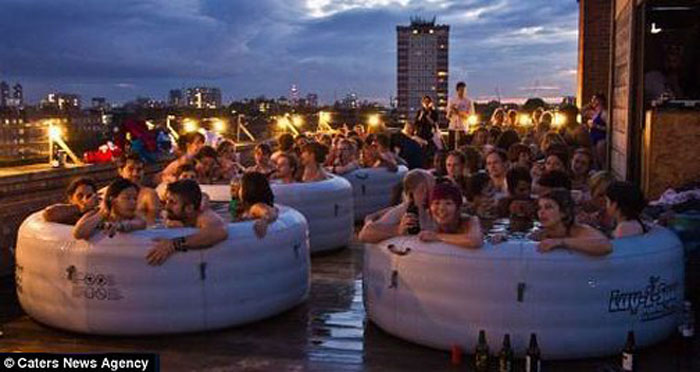 Inflatable Hot Tub Party