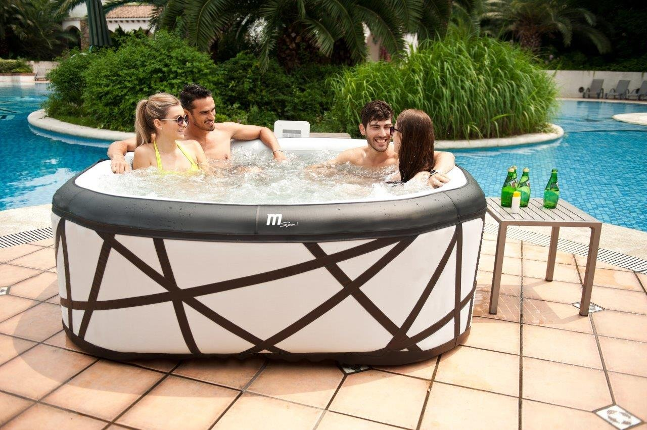 size tub hot portable reviews z coleman lay inflatable spa best fits which