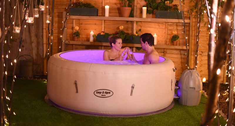 lay z spa paris inflatable hot tub review new for 2016. Black Bedroom Furniture Sets. Home Design Ideas