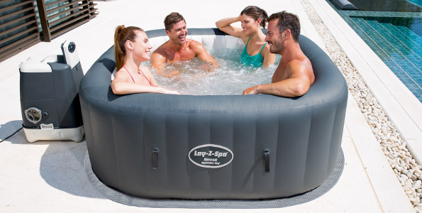 Lay Z Spa Hawaii Inflatable Hot Tub Review 2017 4 Stars