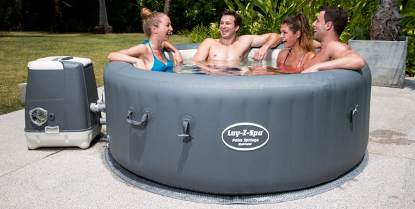 Lay-Z-Spa Palm Springs Hydrojet Inflatable Hot Tub
