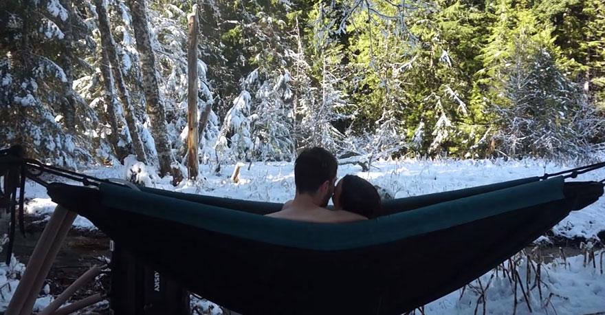 hammock hot tub