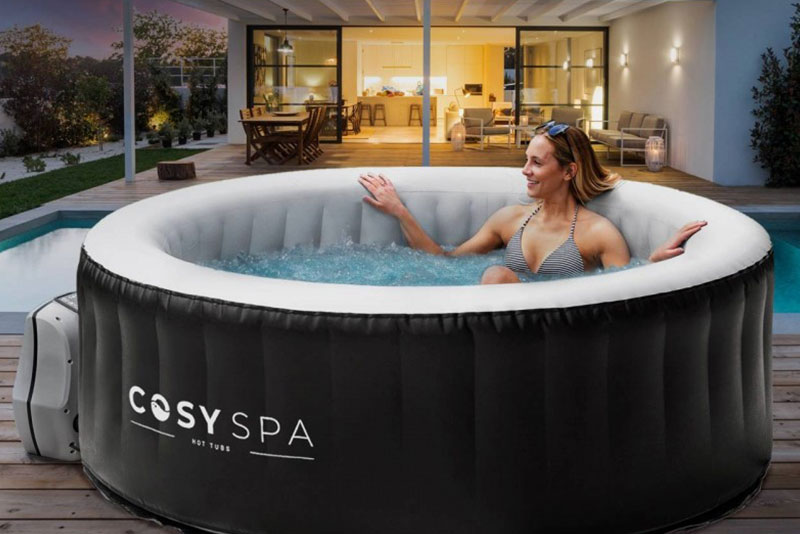 ALL SEASONS 4-6 PERSON INFLATABLE HOT TUB REVIEW