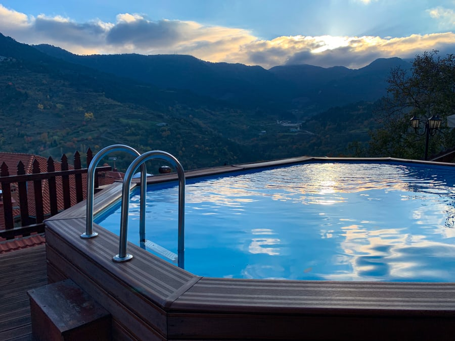 Hot Tub Decking with Steps